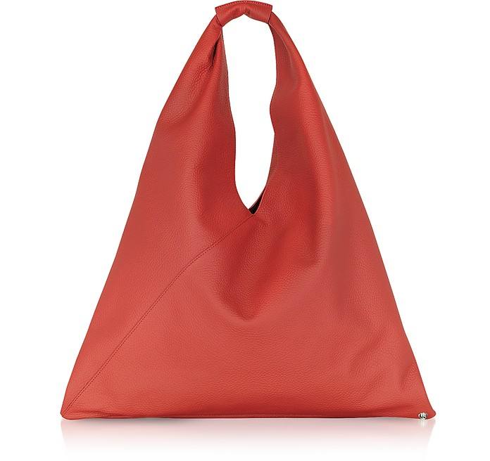 Pebbled Leather Japanese Tote Bag - MM6 Maison Martin Margiela