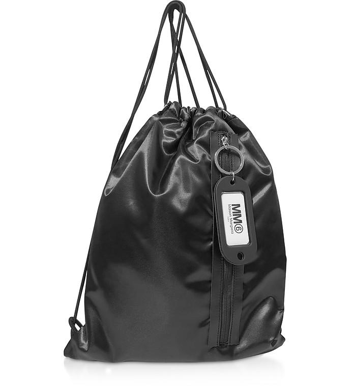 Черный Рюкзак с Карманом на Молнии Спереди - MM6 Maison Martin Margiela