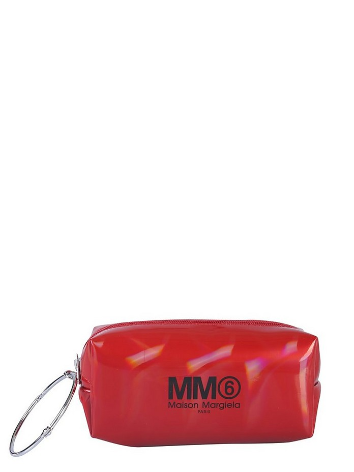 CLUTCH WITH LOGO AND RING - MM6 Maison Martin Margiela