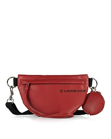 Red Two Compartment Belt Bag