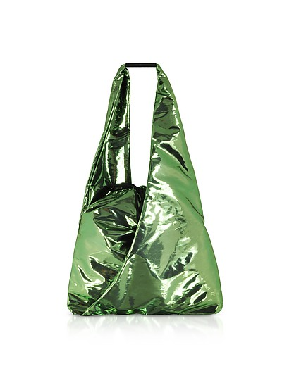 Metallic Drawstring Shoulder Bag - MM6 Maison Martin Margiela