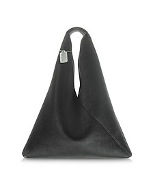 Black Velvet Triangular Tote Bag