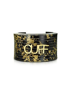 Black & Gold Resin Cuff - MM6 Maison Martin Margiela