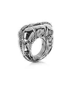 标识细节铜女士戒指 - MM6 Maison Martin Margiela 梅森·马丁·马吉拉