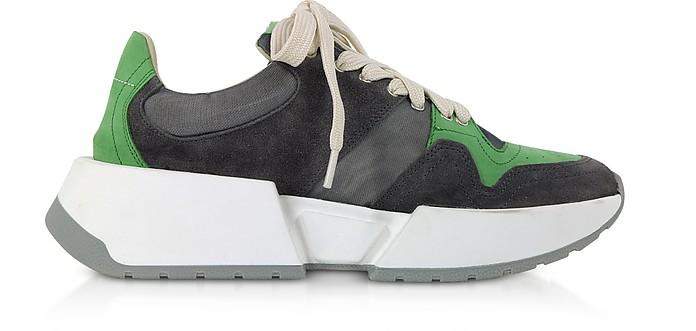 Gray and Mint Green Platform Sneakers - MM6 Maison Martin Margiela