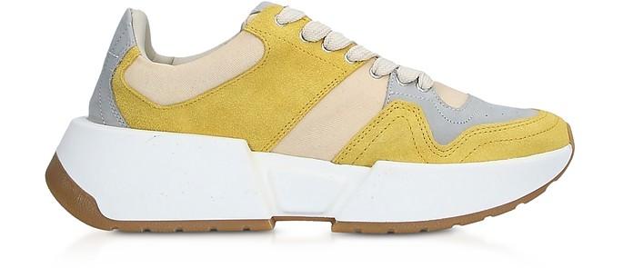 Gray and Yellow Platform Sneakers - MM6 Maison Martin Margiela / MM6 メゾンマルタンマルジェラ