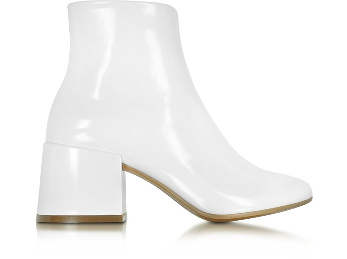 White Patent Leather Bootie - MM6 Maison Martin Margiela