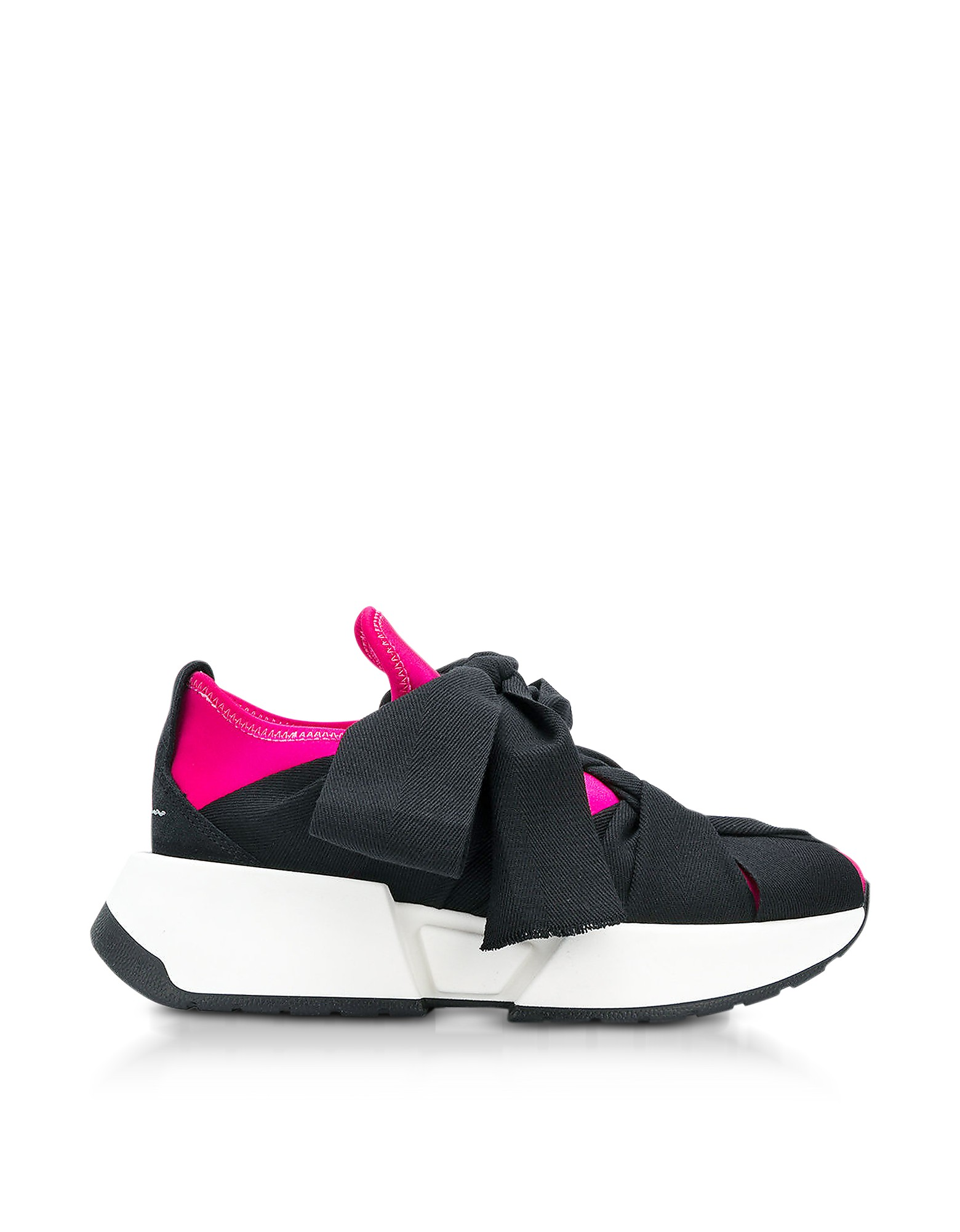 Maison Martin Margiela Designer Shoes, Color Block Nylon and Leather Sneakers