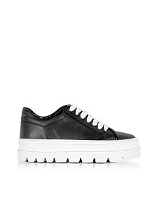Black Leather Flatform Sneakers - MM6 Maison Martin Margiela 梅森·马丁·马吉拉