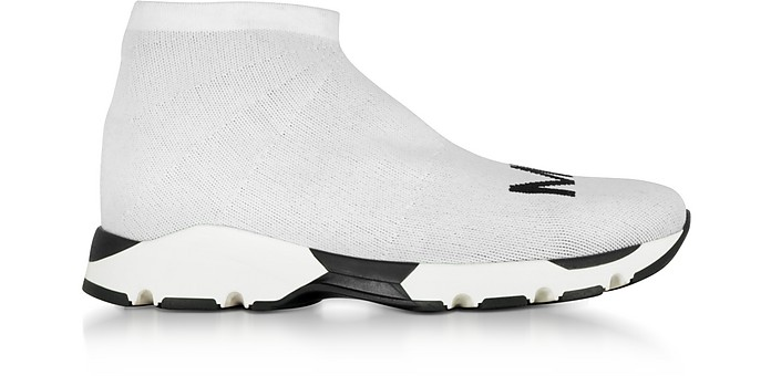 White and Black Logo Sock Sneakers  - MM6 Maison Martin Margiela