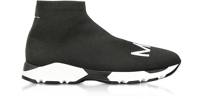 Black and White Logo Sock Sneakers  - MM6 Maison Martin Margiela