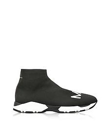 Черно-Белые Кеды Носок с Логотипом - MM6 Maison Martin Margiela