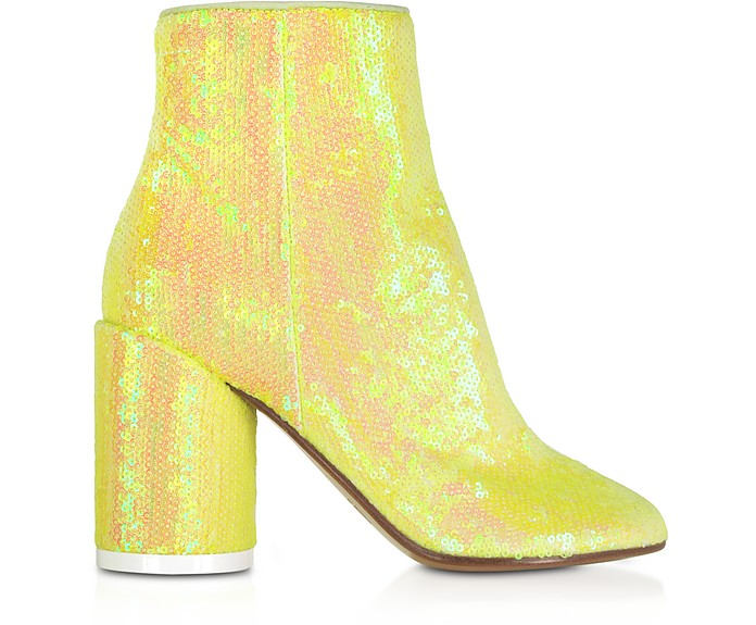 Blazing Yellow Sequins and Suede Boots - MM6 Maison Martin Margiela