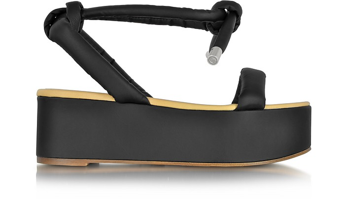 386e5dc84dc MM6 Maison Martin Margiela Black Eco Leather Platform Sandal 36 IT ...