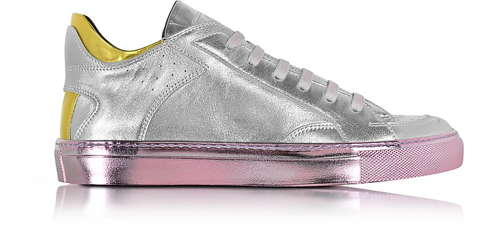 Metallic Leather Low Top Women's Sneaker - MM6 Maison Martin Margiela