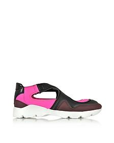 颜色块尼龙和皮革运动鞋 - MM6 Maison Martin Margiela 梅森·马丁·马吉拉