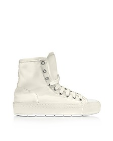Off White Canvas Sneakers - MM6 Maison Martin Margiela