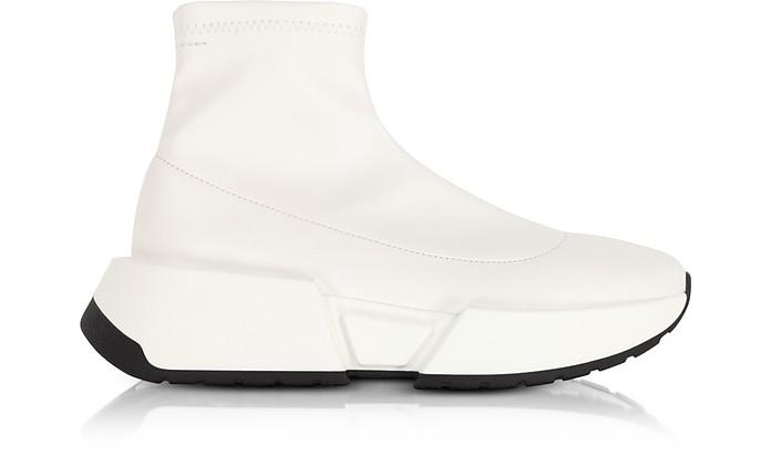 Sneaker Weiß Aus Sock In Stretch Leder eEDY2IWH9