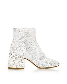White Crackled Leather Boots - MM6 Maison Martin Margiela