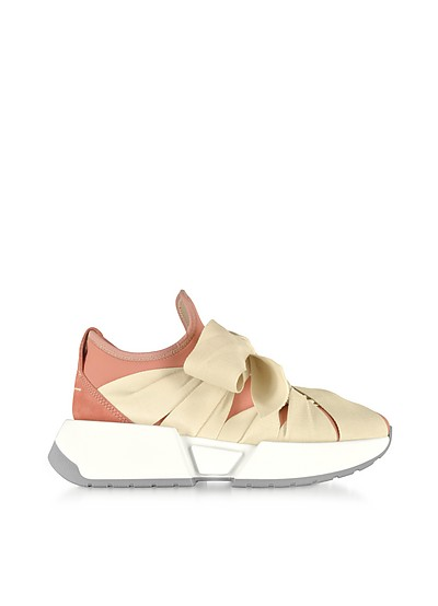 Ribbon Tied Sneakers - MM6 Maison Martin Margiela