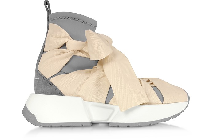 Ribbon Tied Socks Sneakers - MM6 Maison Martin Margiela
