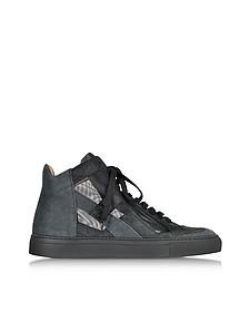 Techno Fabric Black High-top Sneaker