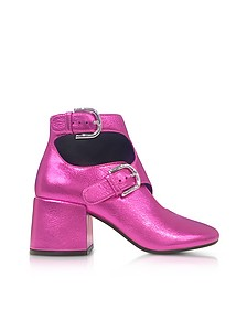 Pink Laminated Leather Bootie - MM6 Maison Martin Margiela