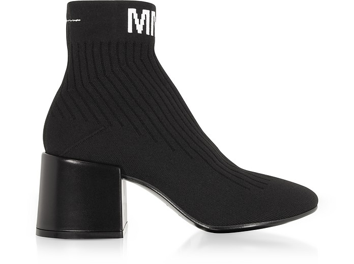 MM6 Black Nylon Sock Boots - MM6 Maison Martin Margiela