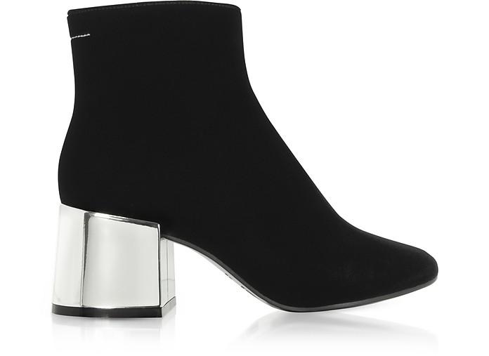 Black Velvet Boots w/Mirror Heels  - MM6 Maison Martin Margiela