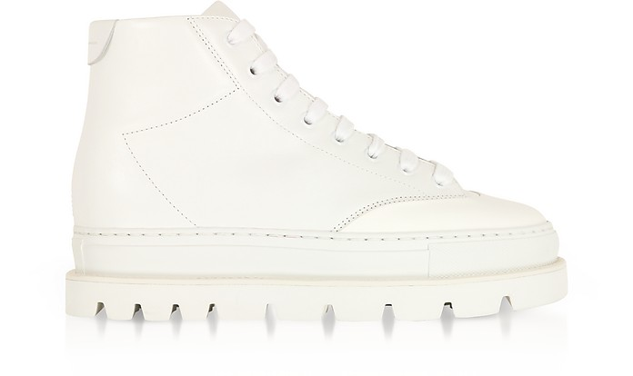 White Leather Platform Sneakers  - MM6 Maison Martin Margiela
