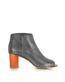 Metallic Heel Ankle Boot
