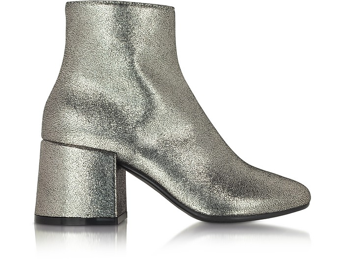 Platinum Leather Ankle Boot - MM6 Maison Martin Margiela