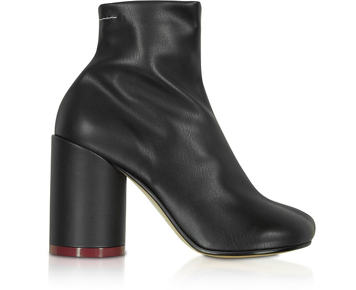 Black Leather Booties - MM6 Maison Martin Margiela