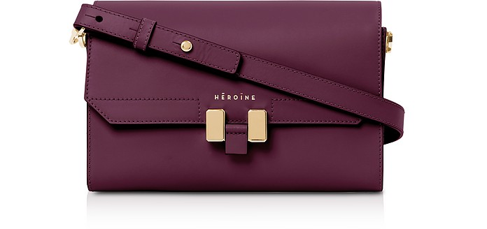 Berry Leather Lilia Tablet Mini Shoulder Bag - Maison Heroine / メゾン ヒロイン