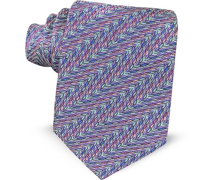Optical Printed Silk Narrow Tie - Missoni
