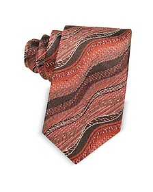 Waves Woven Twill Silk Men's Narrow Tie - Missoni
