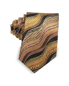Cravatta Slim in Seta Multicolor Waves - Missoni
