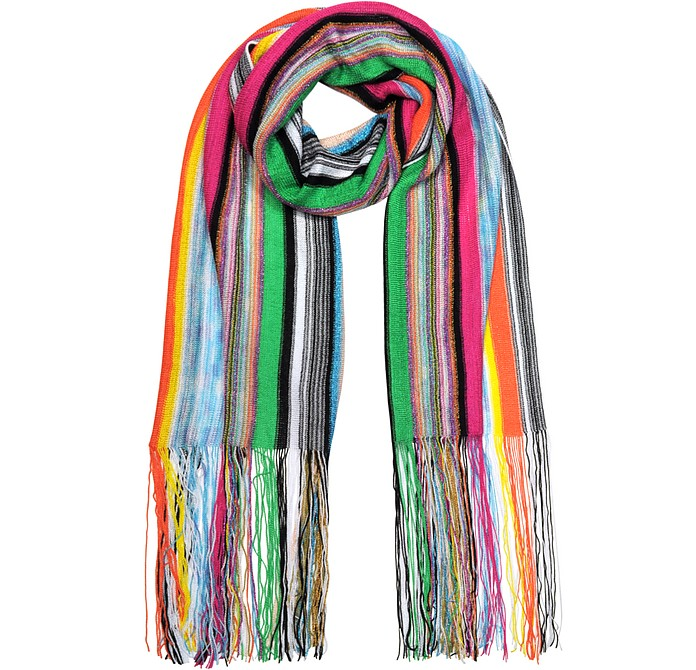Stripe Viscose and Lurex Long Scarf - Missoni