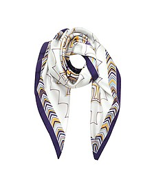 Optical Print Pure Silk Square Scarf - Missoni