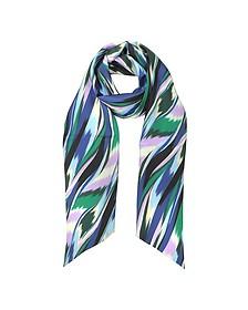 Multicolor Printed Silk Long Scarf - Missoni