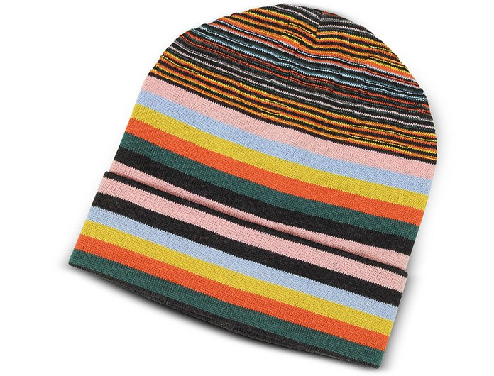 Striped Wool Blend Men's Hat - Missoni