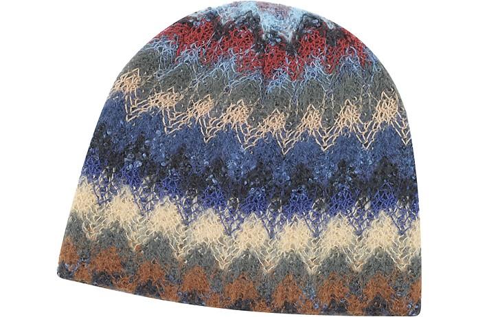 Cappello in Maglia di Lana Missoni Blu su FORZIERI 9f67bba56c08
