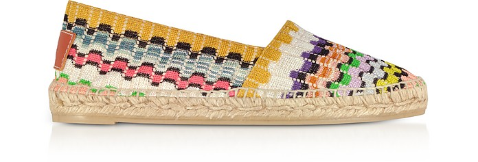 X Castañer - Kenda Multicolor Canvas Flat Espadrillas - Missoni