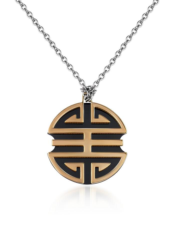 Shangai - Ebony Chinese Ideogram Pendant Necklace - Makuti