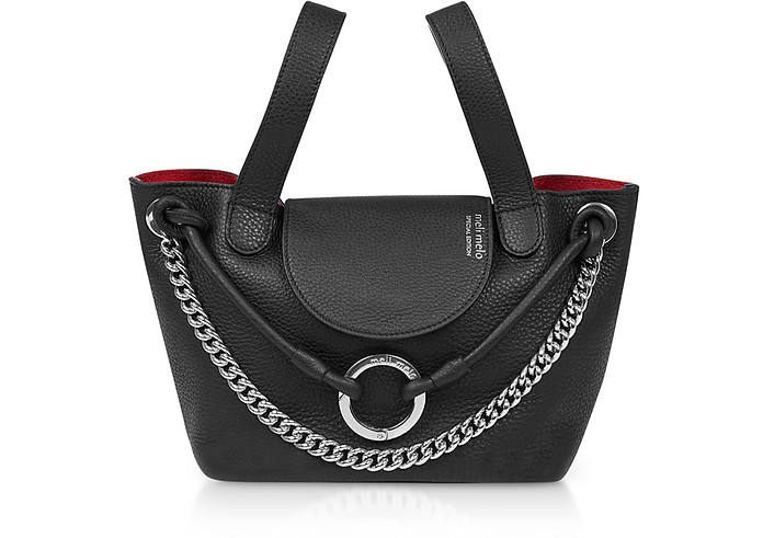 Black Linked Thela Mini Bag - Meli Melo