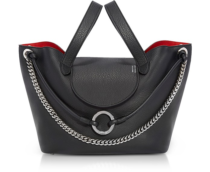 Black Linked Thela Medium Tote Bag - Meli Melo