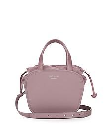 Rosetta Mauve Leather Crossbody Bag - Meli Melo