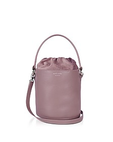 Mauve Leather Santina Mini Bucket Bag - Meli Melo