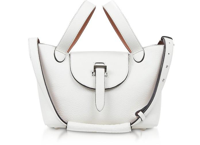 White/Tan Thela Mini Tote Bag - Meli Melo
