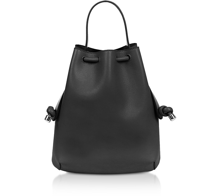 Black Nappa Briony Mini Backpack - Meli Melo